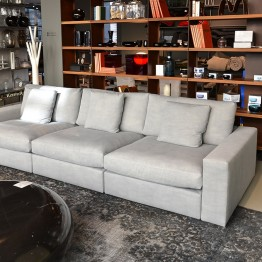 Flexteam Extra Norman Sofa in Grey Fabric