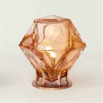 Gabriel Scott Welles Double Blown Glass Desk Lamp