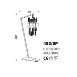 IDL Crystalline Floor Lamp 493/6P