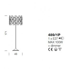 IDL Sofia Floor Lamp 489/1P