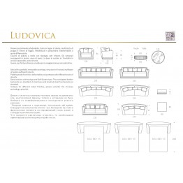 Sofa Ludovica Collection Luxury Keoma Italia