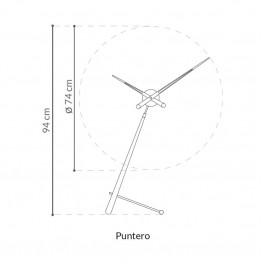 Puntero n Nomon clock. Wood and metal watches