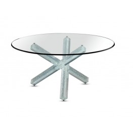 Transeo 72 Craquele Table 1 base with 3 legs Reflex
