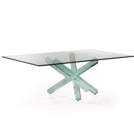 Transeo 72 Craquele Table 1 base with 4 legs Reflex