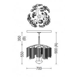Willowlamp Chandelier FAT-700-S
