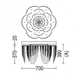 Willowlamp Ceiling ROSE-700-STR-C