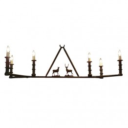 Six Candle Chandelier with two elk
