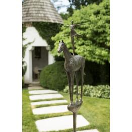Corbin Bronze Sculpture Horse and Rider II