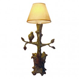 Corbin Bronze Arbre Sconce with bird on left shade separate