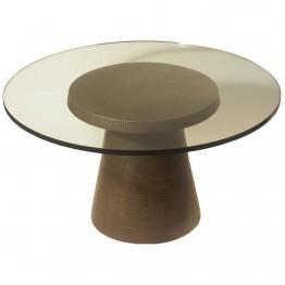 Corbin Bronze Drum Coffee Table