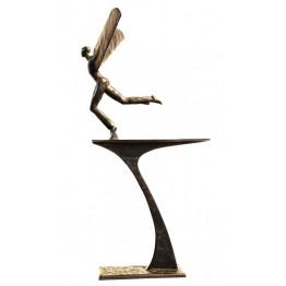Corbin Bronze Sculpture Flight with pedestal
