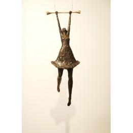 Corbin Bronze Sculpture Girl on Trapeze II