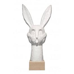 Corbin Bronze Sculpture Bronze Bunnee White