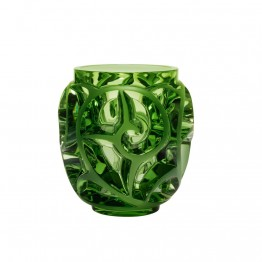 Lalique Tourbillons Light Green Vase