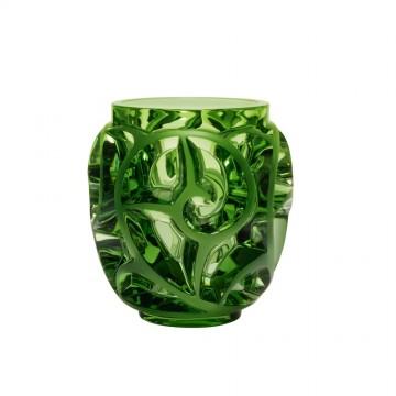 Lalique Tourbillons Light Green Vase