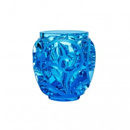 Lalique Tourbillons Pale Blue Vase