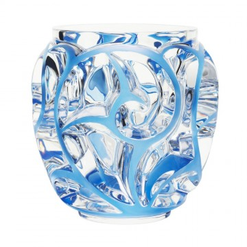 Lalique Tourbillons Clear & Blue Patina XXL Vase