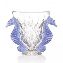 Lalique Poseidon Blue Lavender Dichroic Vase