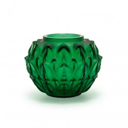 Lalique Cynara Green Vase
