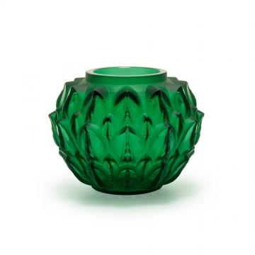 Lalique Cynara Green Vase