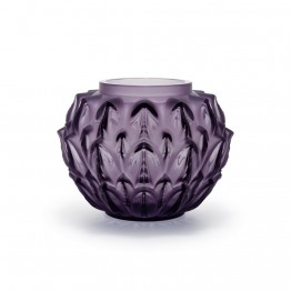 Lalique Cynara Purple Vase