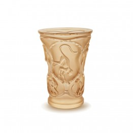 Lalique Monkeys Gold Luster Vase