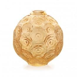 Lalique Anemones Gold Luster Bud Vase
