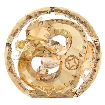 Swarovski Chinese Zodiac Gold Large Dragon