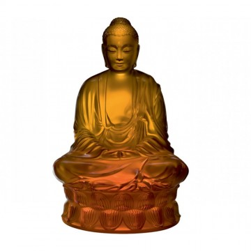 Lalique Amber Large Buddha, Numbered Edition