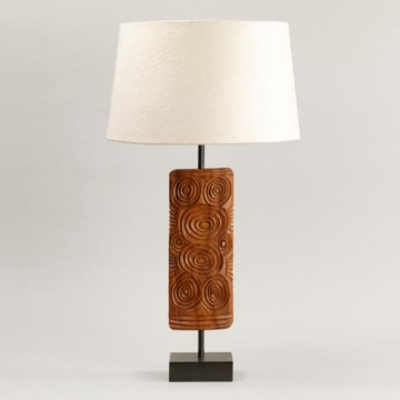 Vaughan Ashanti Wooden Table Lamp TW0039.BZ