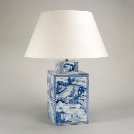 Vaughan Blue & White Square Vase TC0038.XX