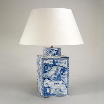 Vaughan Blue & White Square Vase TC0038.XX