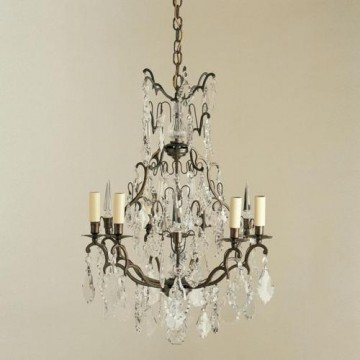Vaughan Kington Cage Chandelier 6 Light CL0215.BZ