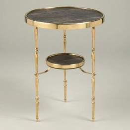 Vaughan Capri Round Brass Table FT0095.BR.BRS