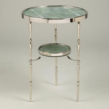 Vaughan Capri Round Nickel Table FT0095.NI.GRS
