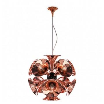Delightfull Botti Art Deco Vintage Brass Pendant Lamp