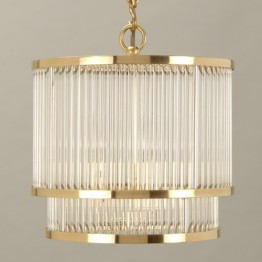 Vaughan Ripon Glass Rod Ceiling Light CL0210.BR