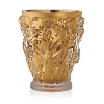 Lalique Bacchantes Gold Luster Extra Large Vase