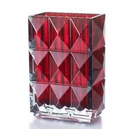 Baccarat Louxor Red Diamond Surface Vase