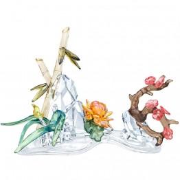 Swarovski Four Noble Plants Sculpture