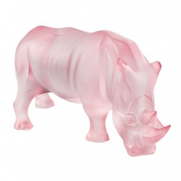 Lalique Pink Rhinoceros, Limited Edition