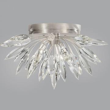 Fine Art Lamps 881440ST Lily Buds Silver Leaf Flush Mount Light Fixture