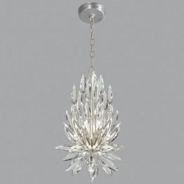 Fine Art Lamps 881540ST Lily Buds Silver Leaf Pendant Light
