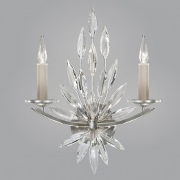 Fine Art Lamps 881750ST Lily Buds Silver Leaf Lamp Sconce
