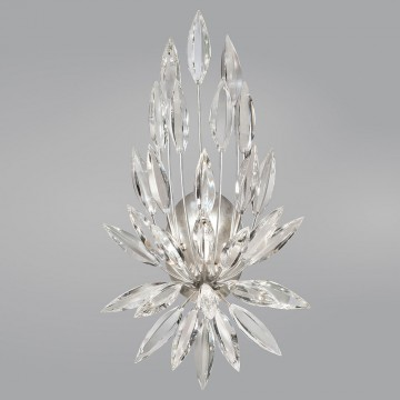 Fine Art Lamps 881850ST Lily Buds Silver Leaf Wall Sconce Lighting