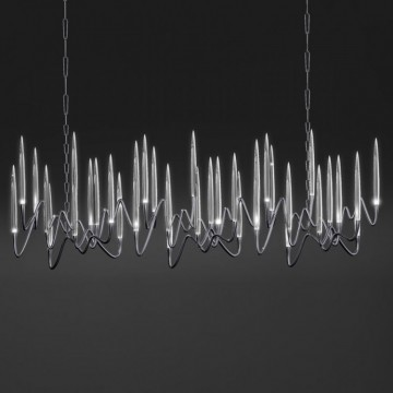 Il Pezzo Mancante / Chandelier - Long (black nickel plated brass)