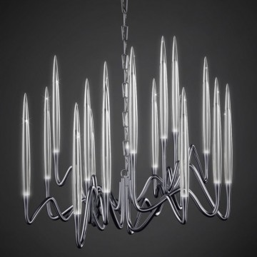 Il Pezzo Mancante / Chandelier - Round (black nickel plated brass)