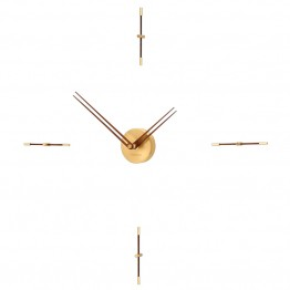 Merlin mini 4 gold n clock - Nomon Wall Clocks