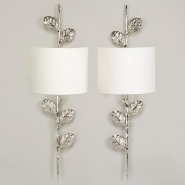 Vaughan Leaf Wall Lights Wall lamp WA0215.NI.SE & WA0216.NI